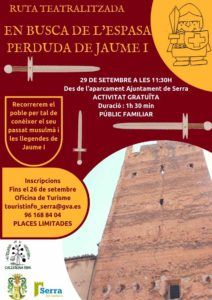 FREE THEATRALIZED ROUTE, IN SEARCH OF THE LOST SWORD OF  JAUME I
