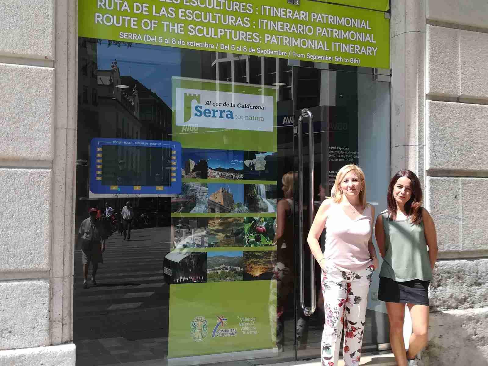 L'Ajuntament de Serra promociona els recursos turístics del municipi a València