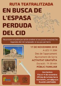 Free theatralized route, in search of the lost sword of El CID