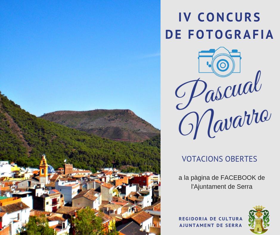 Ja estan obertes les votacions del IV Concurs de Fotografia Pascual Navarro