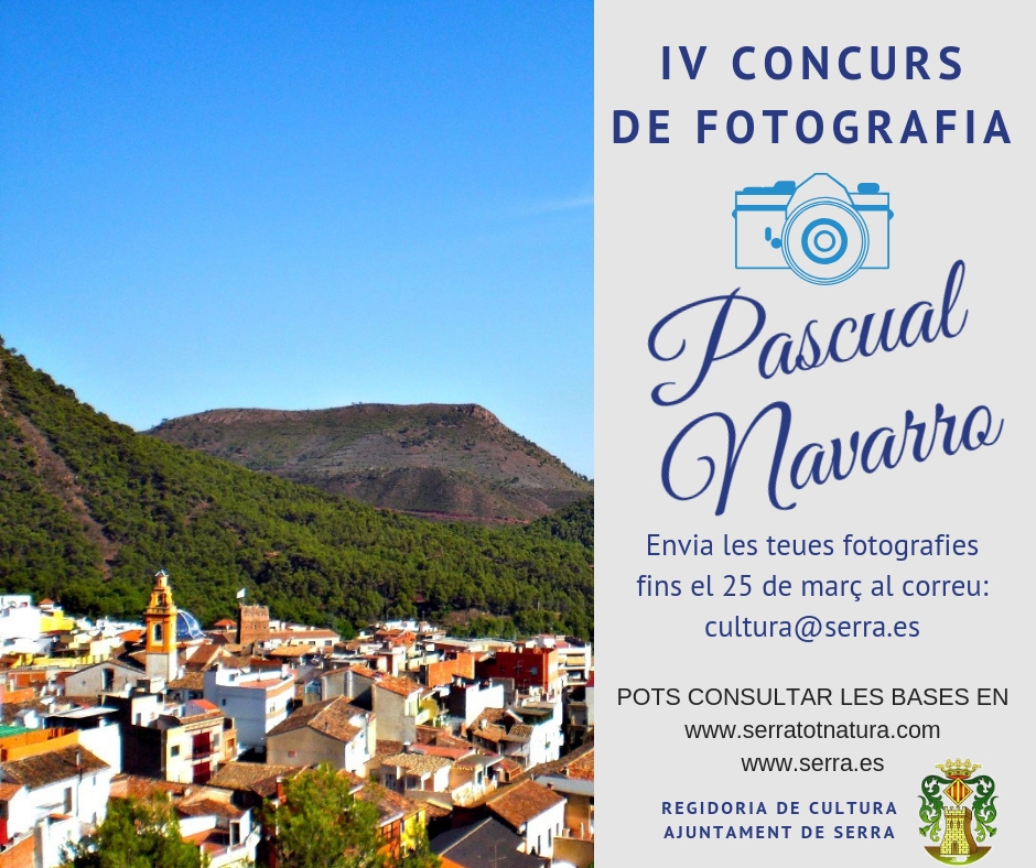 Serra convenes the IV Pascual Navarro environmental photography competition