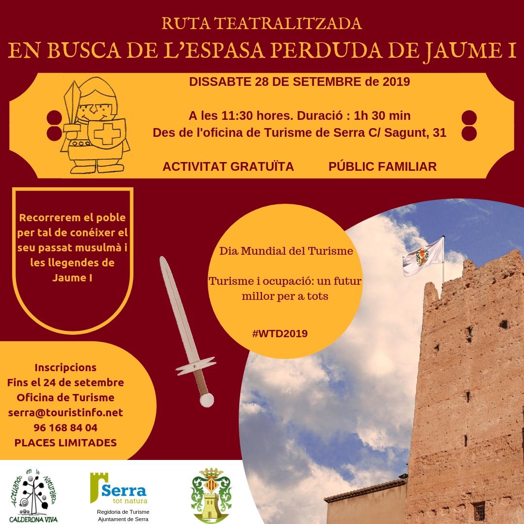 Dia Mundial del Turisme – Ruta teatralitzada gratuïta: En busca de l'espasa perduda de Jaume I