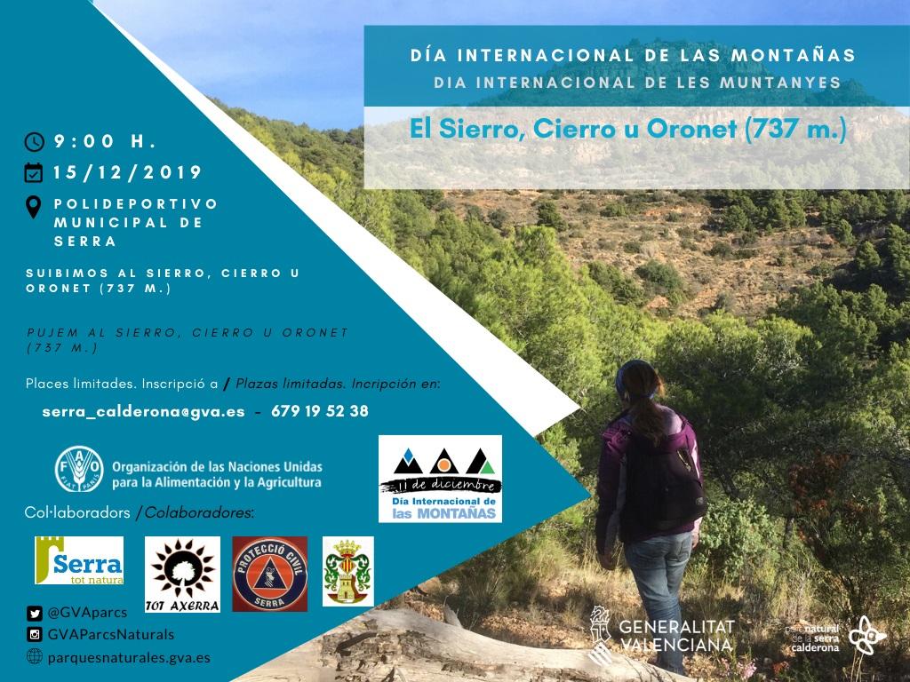 Dia Internacional de les Muntanyes. Ruta senderista al Sierro