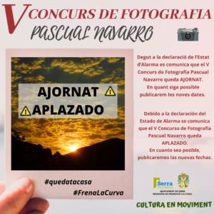 Postponement of the V Pascual Navarro Digital Photography Contest