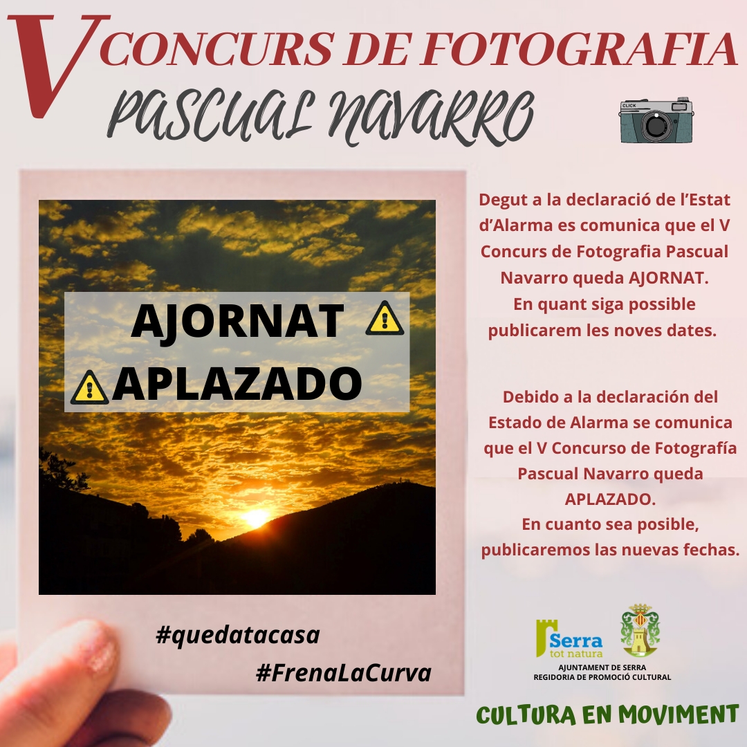 S'ajorna el V Concurs de Fotografia Pascual Navarro