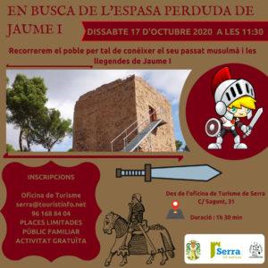 Ruta teatralitzada gratuïta: En busca de l'espasa perduda de Jaume I
