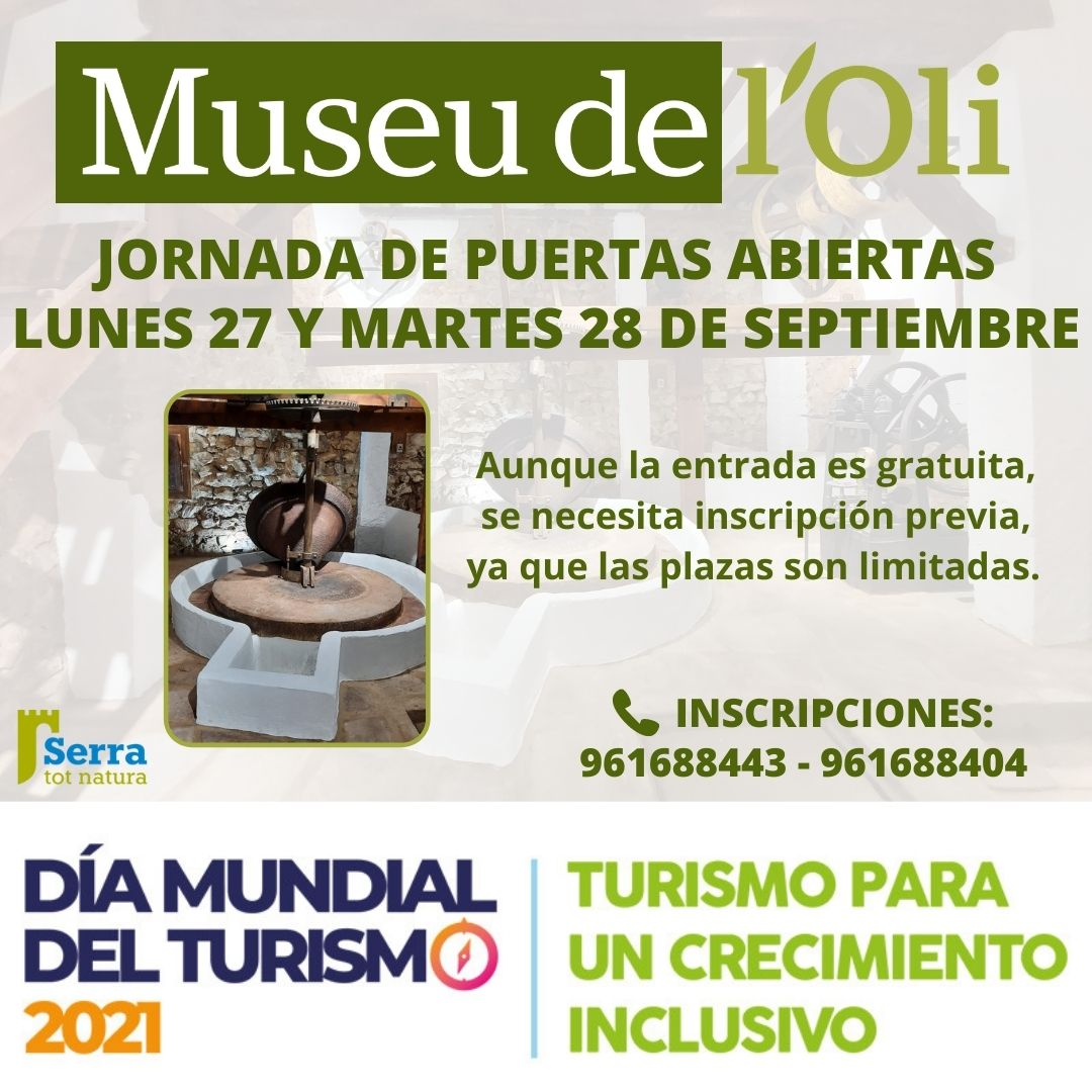 You are currently viewing Dia Mundial del Turisme – Visita al Museu de l'Oli