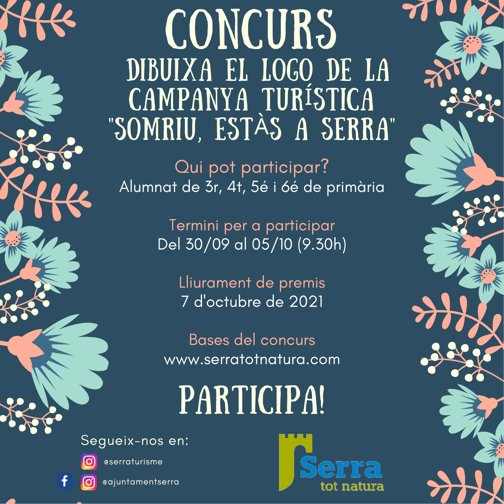 You are currently viewing Un concurs  per a crear el logo de la campanya Somriu, estàs a Serra