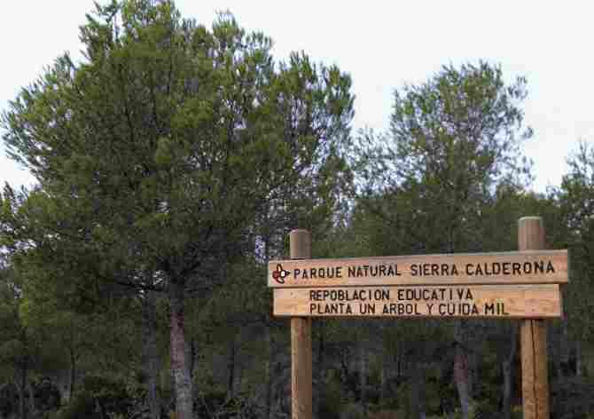 Cartell parc natural Serra Calderona
