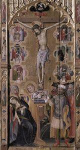 Fragment retaule de Frai Bonifaci Ferrer Crucifixio a Serra